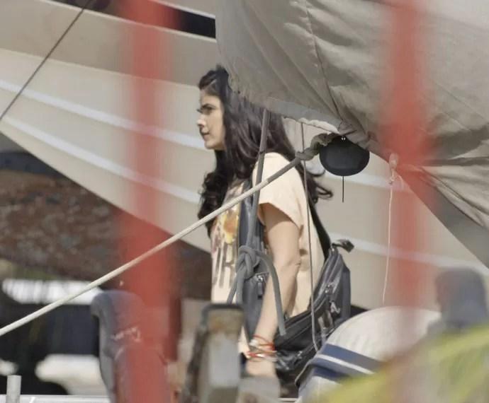 Tóia é vista no píer (Foto: TV Globo)