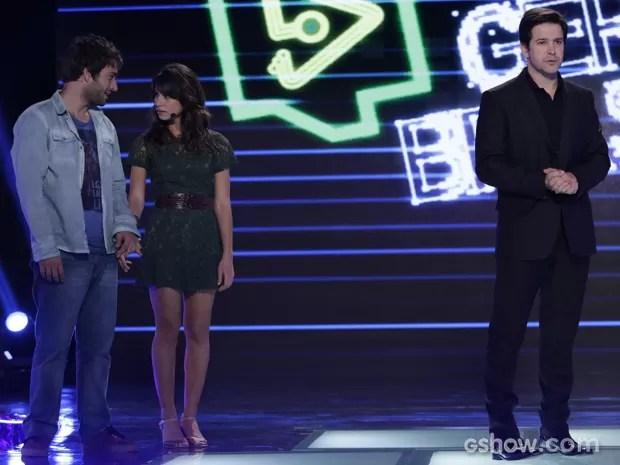 Jonas desafia Manu e Davi a bombarem Filma-E em duas semanas (Foto: Fábio Rocha/TV Globo)