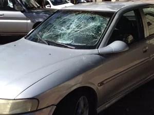 Carro do deficiente físico foi danificado, em Presidente Prudente (Foto: Gelson Netto/G1)