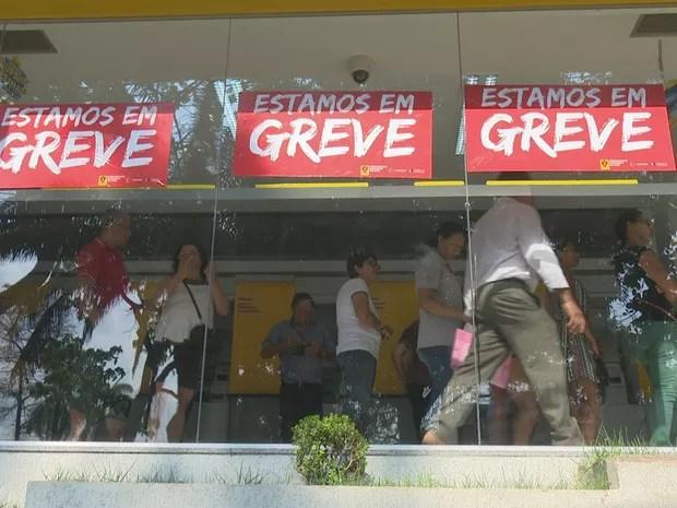 Greve dos bancários no Acre completa uma semana de paralisação (Foto: Reprodução/Rede Amazônica Acre)