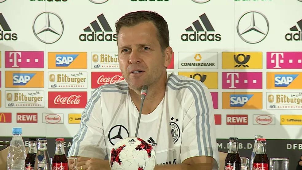 Ex-atacante Oliver Bierhoff  é o diretor esportivo da Alemanha (Foto: Ivan Raupp)