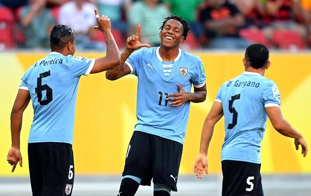 Abel Hernandez gol Uruguai jogo Taiti (Foto: Getty Images)