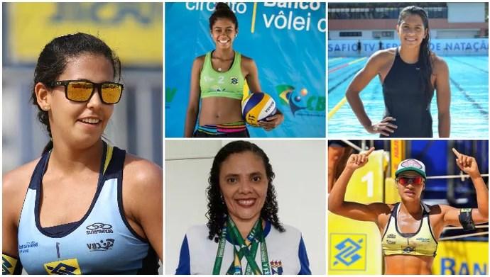 Mulheres sergipanas no esporte (Foto: Arte/GloboEsporte.com)