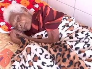 Idosa de 126 anos mora em abrigo na Bahia (Foto: Reprodução/ TV Bahia)