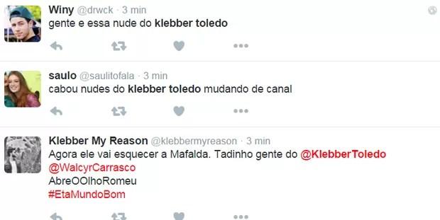 Klebber Toledo no twitter (Foto: Reprodução / Twitter)