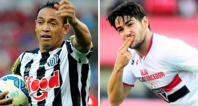 Montagem Ricardo Oliveira e Alexandre Pato (Foto: Montagem sobre foto da Agência Estado)