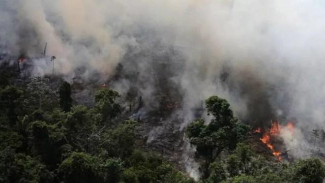 Queimadas na Floresta Amazônica — Foto: Nacho Doce/Reuters