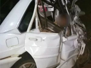 Cinco pessoas morrem após acidente na MS-306 (Foto: Divulgação/Corpo de Bombeiros)