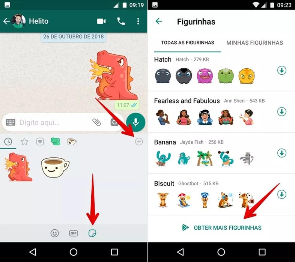 Baixe novas figurinhas para o WhatsApp — Foto: Reprodução/Helito Beggiora