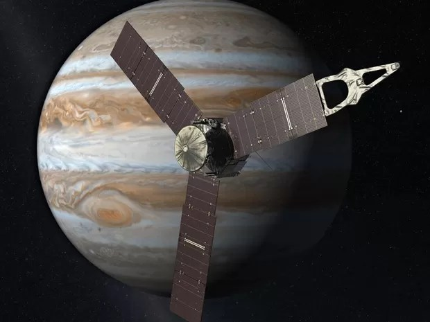 Imagem ilustrativa de Juno perto de Júpiter (Foto: Nasa)