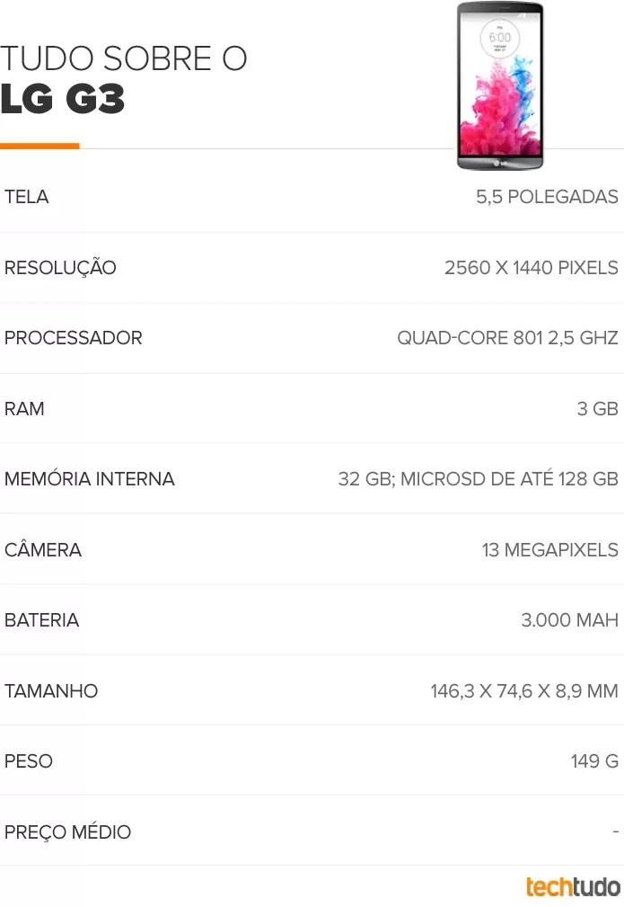 LG lança G3, top com o dobro de resolução do S5 e câmera