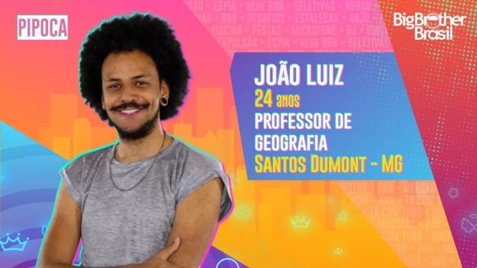 João Luiz é participante do'BBB21' — Foto: Divulgação/Globo