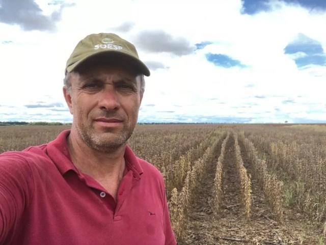 Plantio do milho atrasou 45 dias na propriedade de Zilto Donadello — Foto: Arquivo pessoal