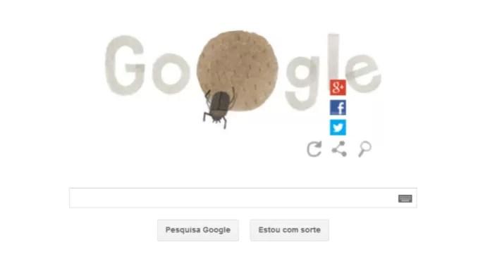 Doodle interativo permite que os internautas compartilhem a comemoração nas redes sociais (Foto: Reprodução/Google) (Foto: Doodle interativo permite que os internautas compartilhem a comemoração nas redes sociais (Foto: Reprodução/Google))
