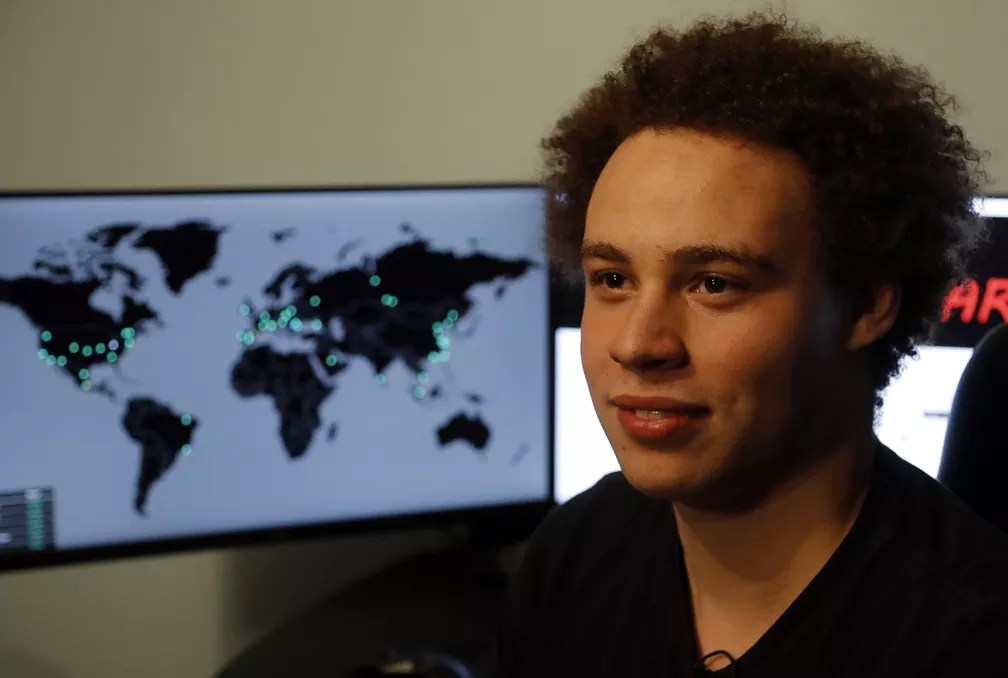 Marcus Hutchins, que se apresentava nas redes sociais como MalwareTech (Foto: AP Photo/Frank Augstein)