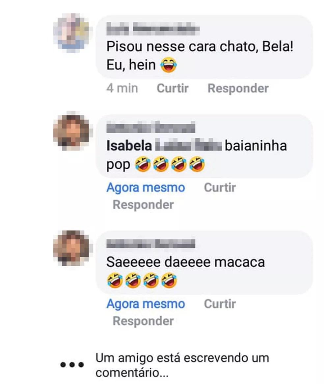 Homem invadiu perfil de jovem de Guarujá, SP, e deixou comentários de cunho racista — Foto: Reprodução/Facebook