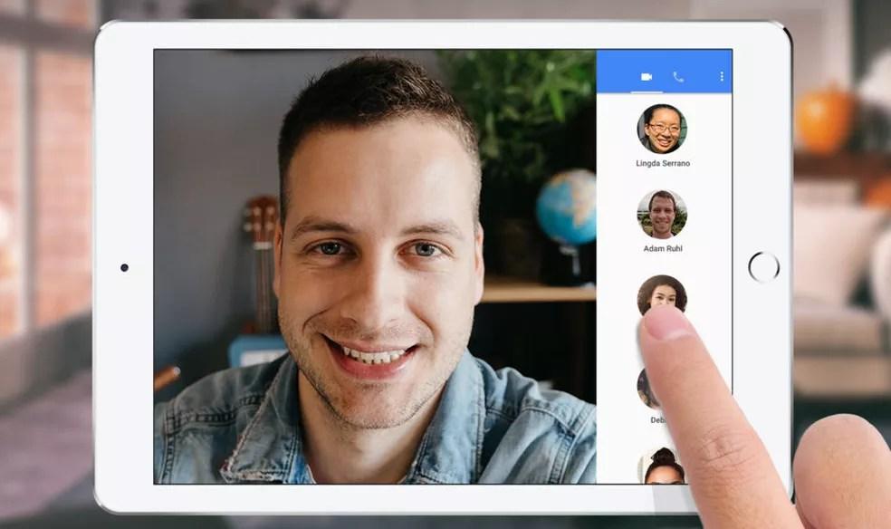 Google Duo também pode ser usado em tablets — Foto: Reprodução/Google