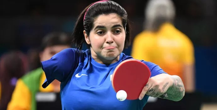 Bruna Alexandre tenis de mesa paralimpiada (Foto: André Durão)