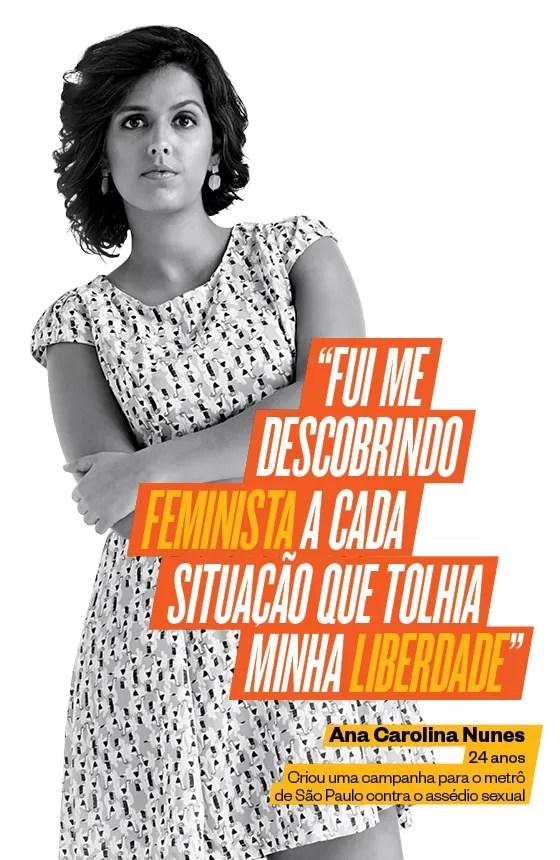 A jornalista Ana Carolina Nunes ajudou o Metrô de São Paulo a criar uma campanha contra o assédio às mulheres nas estações e nos vagões (Foto: Edu Lopes/Click de Gente/ÉPOCA, Produção Daniele Verillo, Makeup Adilson Vital)
