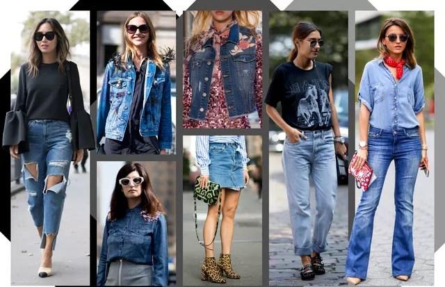 Como usar o jeans (Foto: Arte Vogue Online)