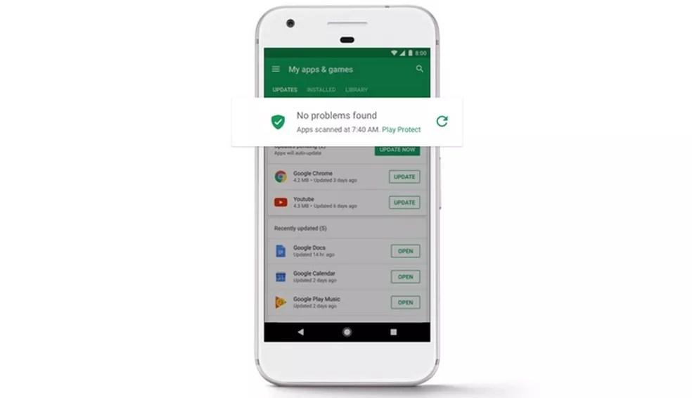 Play Protect é a nova ferramenta de segurança do Google para Android  (Foto: Divulgação/Google)