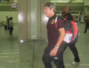 Paulo Cesar Coutunho, desembarque do Flamengo (Foto: Richard Souza / Globoesporte.com)