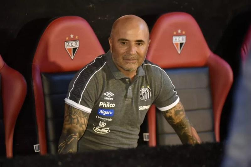 Jorge Sampaoli comentou sobre o interesse em Ricardo Oliveira — Foto: Ivan Storti/Santos FC