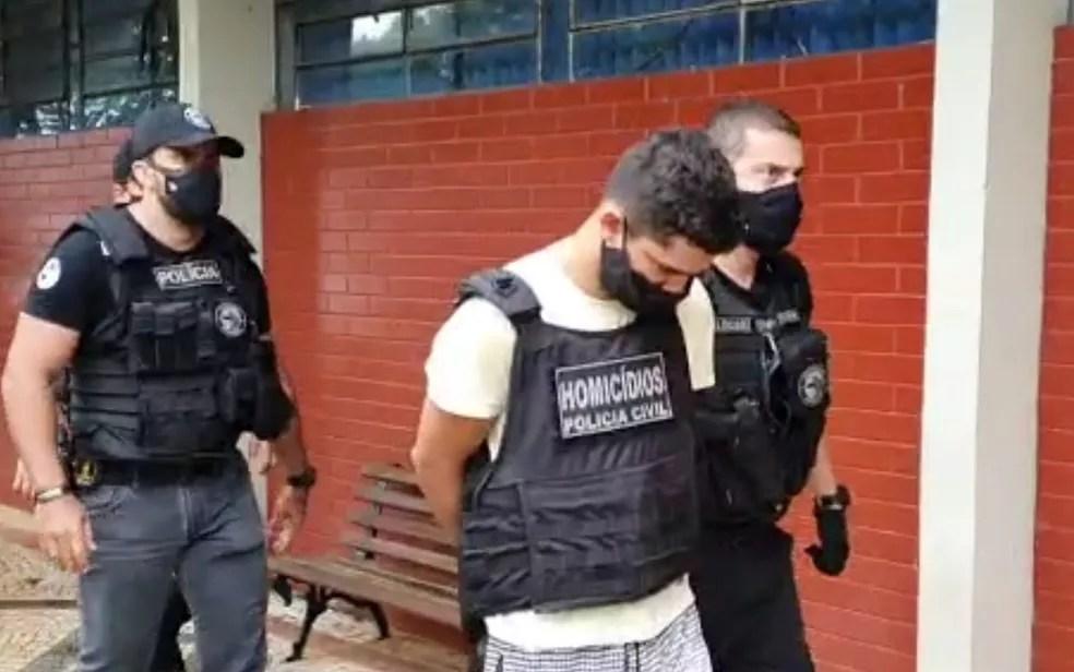 Pedro Henrique Martins Soares foi o primeiro a ser preso por suspeita de assassinar advogados em Goiânia — Foto: Reprodução/TV Anhanguera