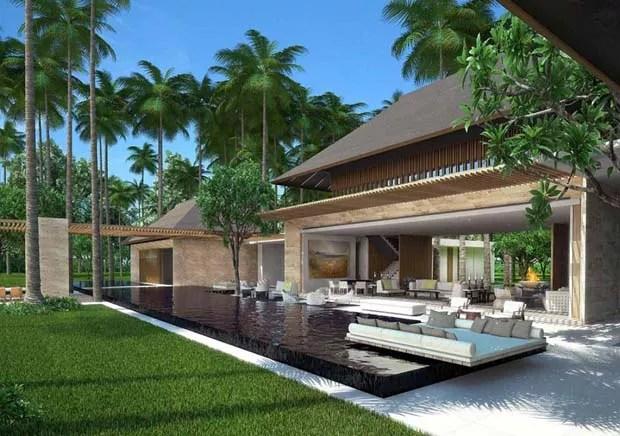 A estrutura será construída com materiais locais e inspiração Maia (Foto: Reprodução/Denniston International)