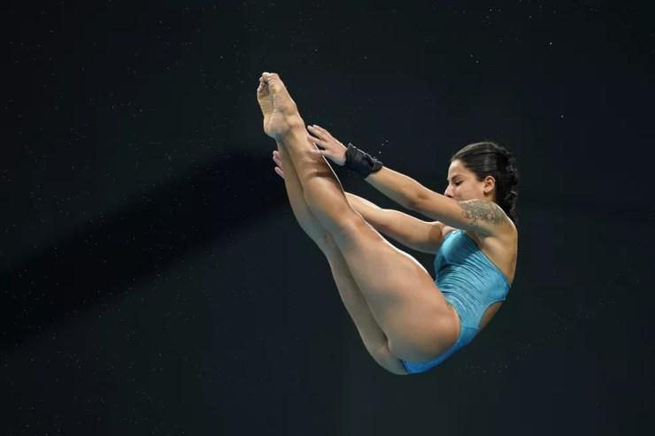 Ingrid Oliveira é eliminada na fase classificatória dos saltos ornamentais — Foto: Getty Images/Toru Hanai