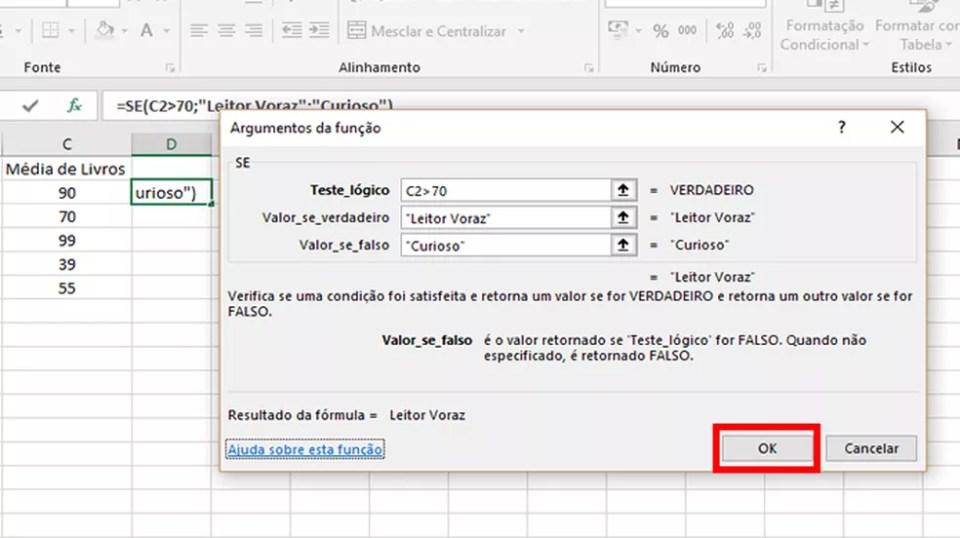 Determine as condições de determinarão a análise e as respostas lógicas da operação e confirme a configuração (Foto: Reprodução/Daniel Ribeiro)