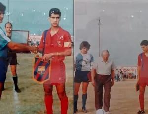 campo em homenagem a Pep Guardiola do Barcelona (Foto: Thiago Dias / Globoesporte.com)