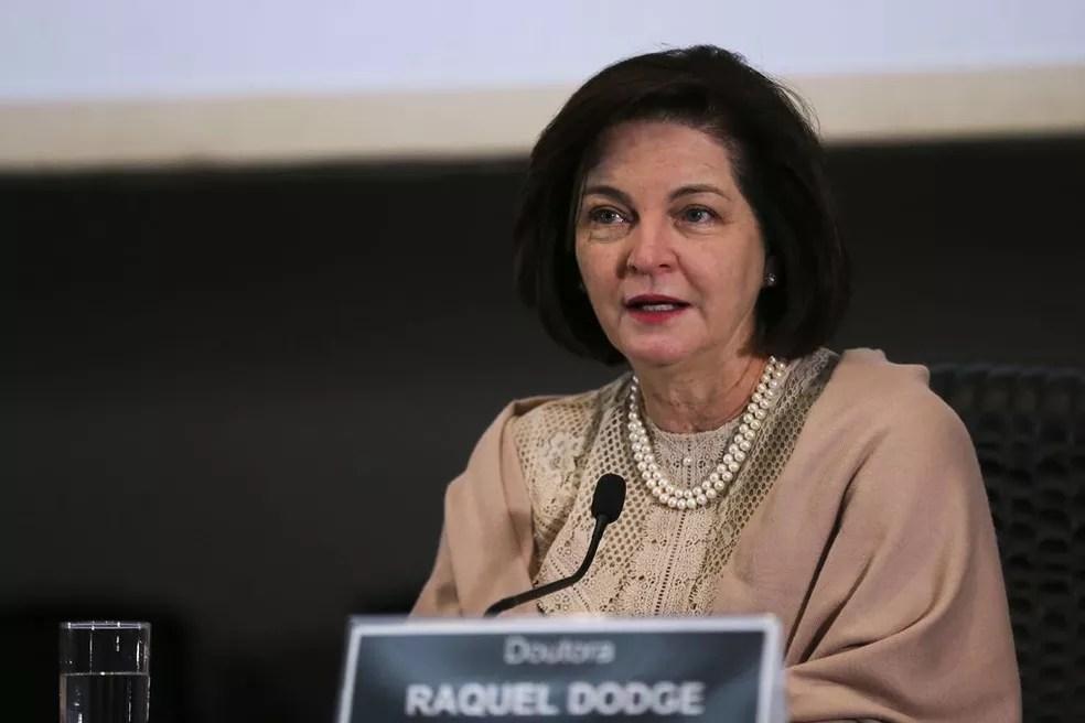 A procuradora-geral da República, Raquel Dodge, falou sobre direitos das mulheres na 13º edição da Jornada Maria da Penha — Foto: José Cruz/Agência Brasil