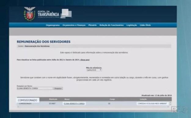 Presa suspeita de integrar quadrilha que explodia caixas eletrônicos em Curitiba e Região é funcionária comissionada, segundo o portal da Alep (Foto: Reprodução/RPC)