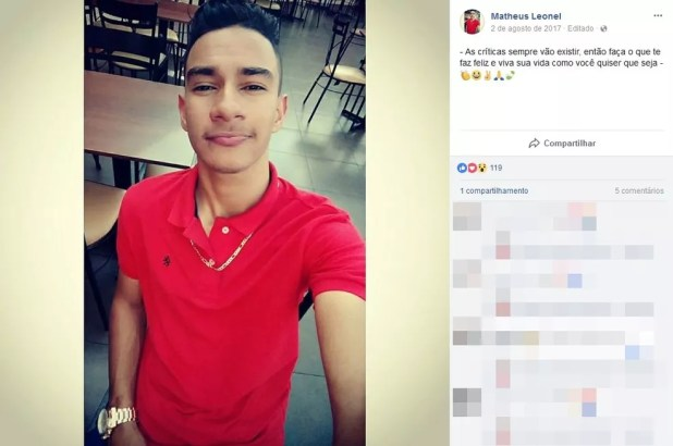 Matheus Leonel morreu depois que bateu moto que pilotava que caminhonete em Andradina (SP) (Foto: Reprodução/Facebook/Matheus Leonel)