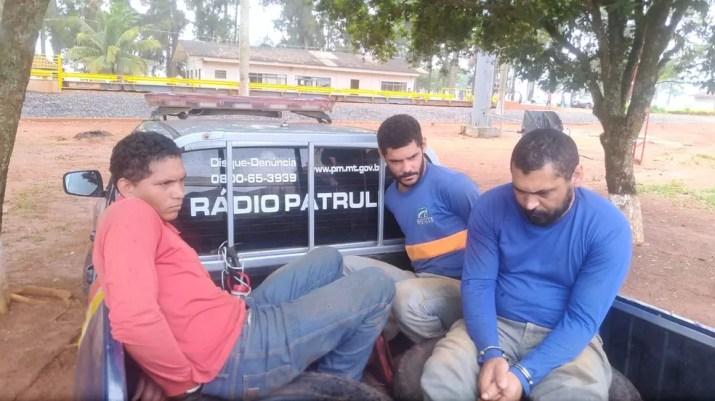 Colegas de Gabriel foram presos pela PM em Mato Grosso — Foto: Polícia Militar de Mato Grosso/Divulgação