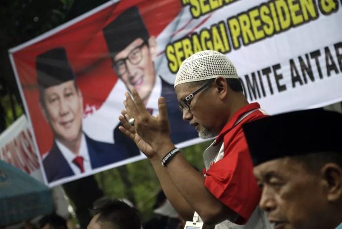 Eleição na Indonésia é uma das maiores do mundo — Foto: Dita Alangkara/AP