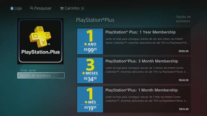 PS Plus chega ao Brasil com assinaturas a partir de R$ 20 (Foto: Reprodução / PSN)