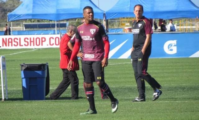 Jogo-treino São Paulo (Foto: Marcelo Prado)