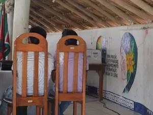 Réus são irmãos da etnia Macuxi; eles não quiseram conceder entrevistas à imprensa (Foto: Emily Costa/ G1 RR)