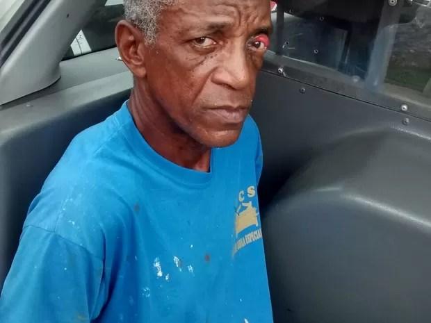 Criminoso foi preso em Praia Grande, no litoral de São Paulo (Foto: G1)