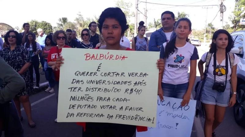 Ufac deve perder R$ 15 milhões em verbas e ter o segundo semestre comprometido, segundo reitoria  — Foto: Iryá Rodrigues/G1