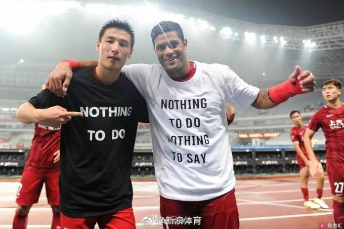 Hulk protesta contra suspensão de Oscar e desfalcará o Shanghai SIPG em duas partidas (Foto: IC Sports China)