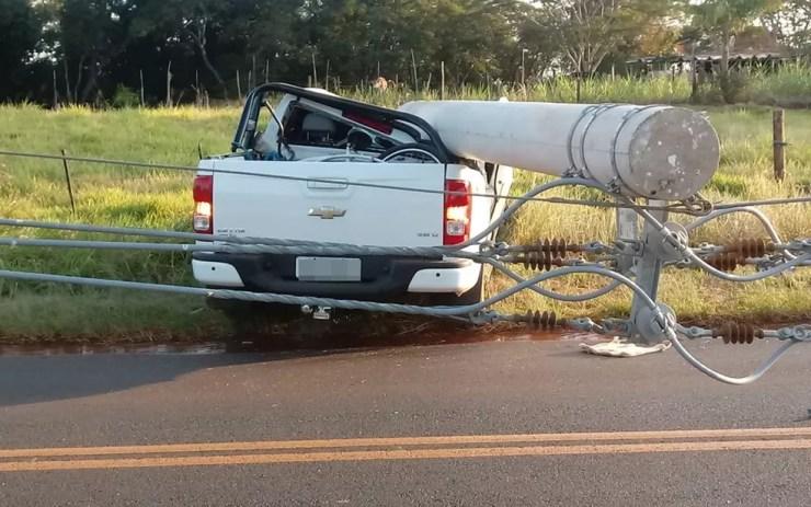 Motorista teve apenas ferimentos leves  (Foto: Arquivo Pessoal)