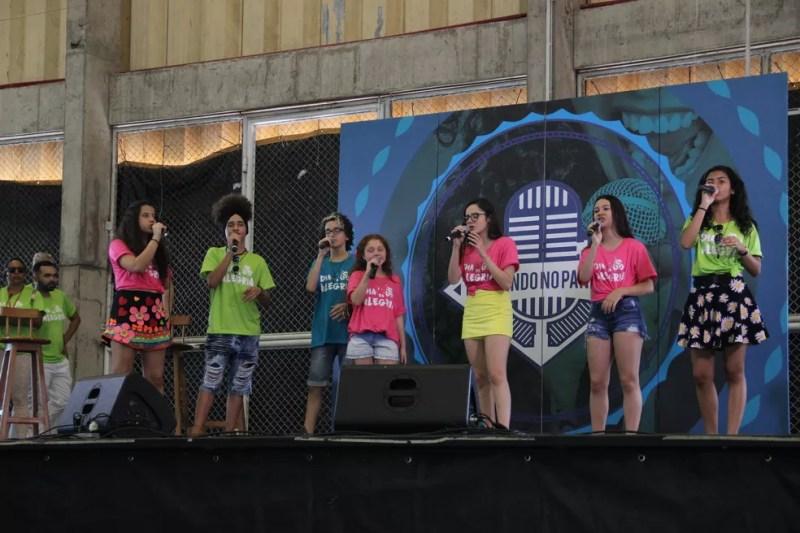 Ex-The Voices se apresentaram (Foto: Matheus Castro/Rede Amazônica)