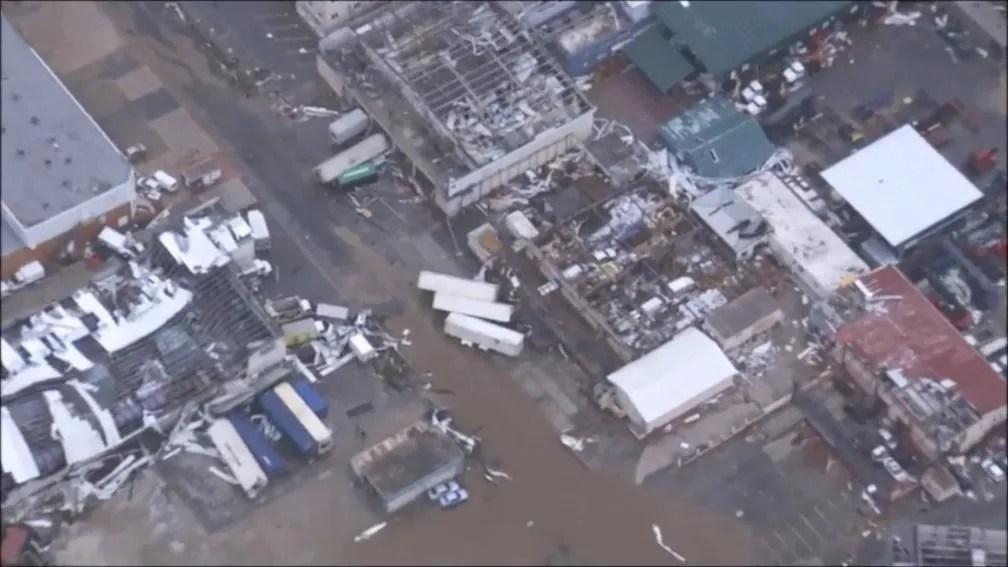 Após passagem do furacão Irma pelo Caribe, os danos à parte holandesa da Ilha de Saint Martin podem ser vistos do alto (Foto: ETHERLANDS MINISTRY OF DEFENCE via REUTERS )