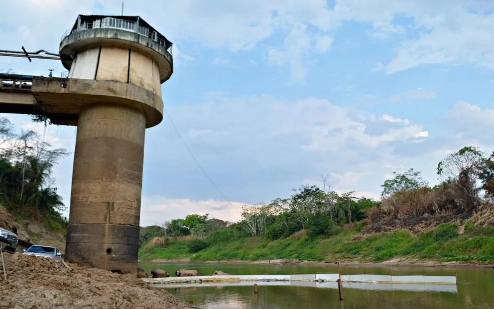 Problema na ETA I interrompe distribuição de água em 12 bairros de Rio Branco  — Foto: Quésia Melo/G1/Arquivo