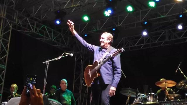 Zé Ramalho se apresentou no Parque das Águas em Sorocaba (Foto: Aline Albuquerque/G1)