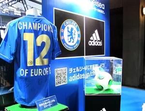 loja Chelsea produtos Yokohama (Foto: Cahê Mota / Globoesporte.com)