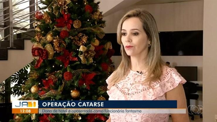Dona de hotel é alvo de operação da Polícia Civil — Foto: Reprodução/TV Anhanguera